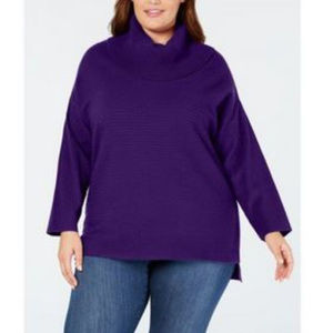 Style & Co 2X Purple Cowl Neck Sweater NEW D3-01